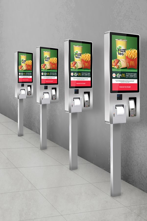 Public Restaurant Canteen Self Service Food Ordering Touch Interactive Terminal Kiosk Machines Signage With Printer Smart Card System Car Parking Equipment