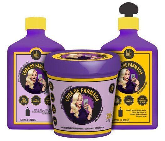 Para loiras de berço, de farmácia ou do banheiro de casa. Indicada para cabelos loiros naturais, coloridos ou com mechas. ------------------- - Shampoo Matizador: O que é: Shampoo para cabelos loiros de todos os tons. Matiza e neutraliza os tons amarelados e alaranjados dos fios, deixando os cabelos loiros revitalizados e mais brillhantes em apenas três lavagens. Uso: - Aplique o Shampoo Matizador Loira de Farmácia nos cabelos molhados e massageie delicadamente até fazer espuma. - Repita a…