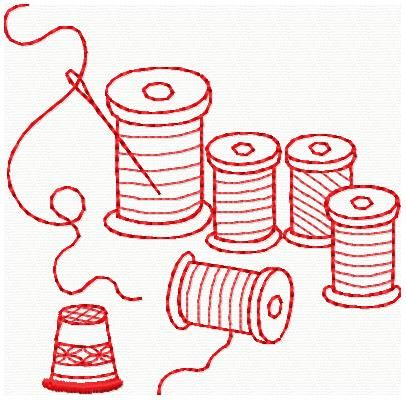 Embroidery Machine Pattern Redwork Sewing | Machine