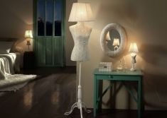 Lampade da terra di design : Collezione VOGUE-CROCHE