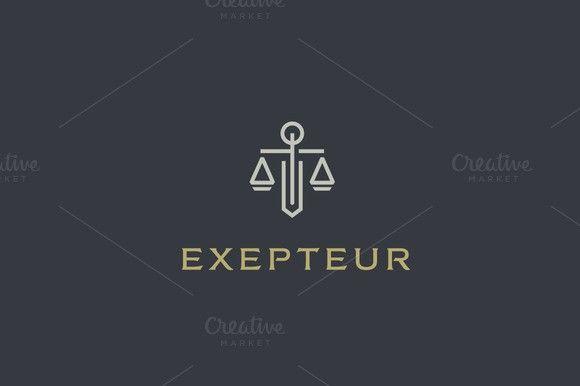 Law firm line logo. Premium Icons. $25.00