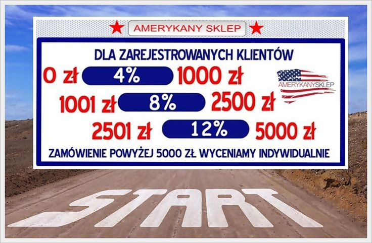 Discounts for our customers www.amerykany.sklep.pl