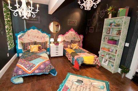 Bohemian bedroomChalkboard Walls, Bedrooms Catherinesatt, Kids Room, Interiors Design, Girls Room, Chalk Boards, Bohemian Bedrooms, Bedrooms Ideas, Chalkboards Wall