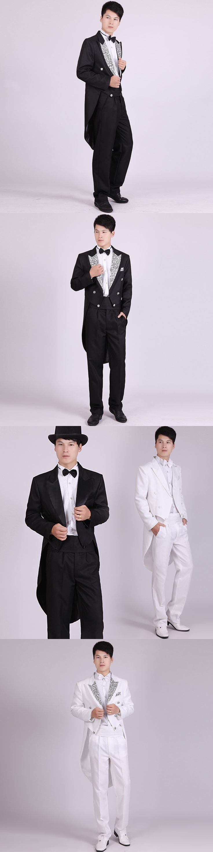 Men's Tuxedo Wedding Groomsmen Gala Dinner Party Magician Moderator Playing a piano suit Performance suits