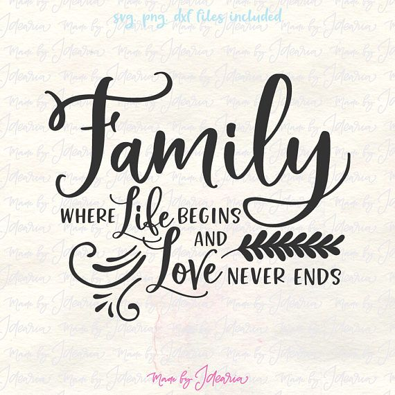 Make something adorable with this Family is where life begins and love never ends Svg file. You will receive 3 digital files in 1 zip folder: - 1 svg. - 1 png. (black with transparent background) - 1 dxf. • USAGE AGREEMENT • You are free to use this design in any commercial project you