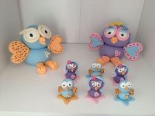 Giggle And Hoot Cake Topper, Hoot And Hootabelle Plus 6 Cupcake Toppers