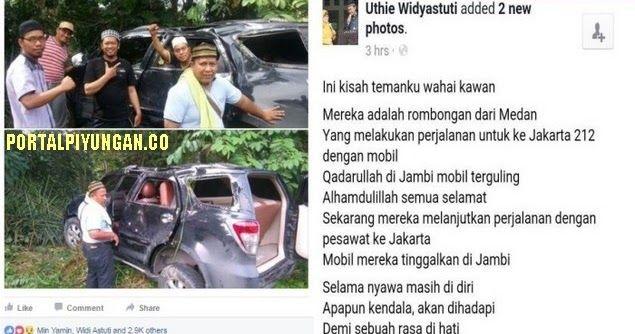 """Kisah Tekad Baja Kafilah 212 dari Medan: """"Selama nyawa masih di diri, Apapun kendala akan dihadapi"""""""