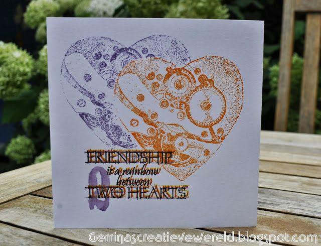 Gerrina's Creatieve Wereld: Twee harten / Two hearts