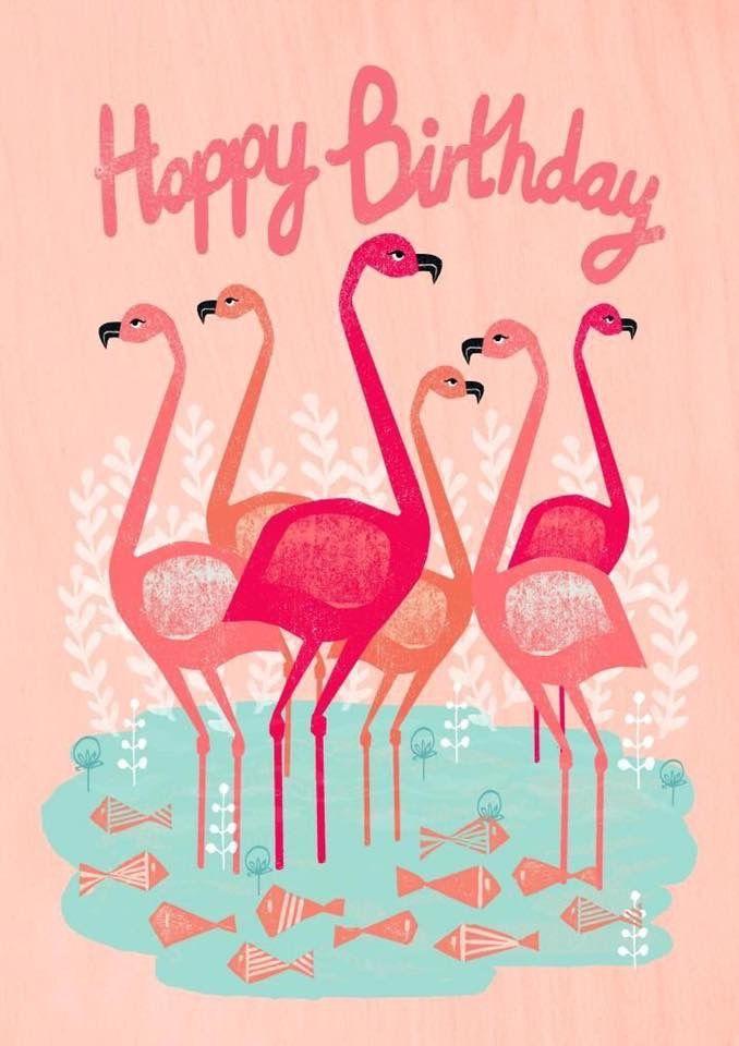 Открытки с фламинго с днем рождения, музыка