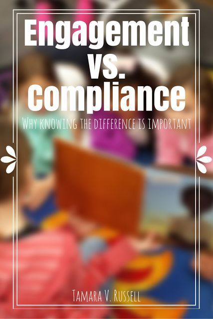 Engagement vs. Compliance Learning the distinction and working towards growth will help you as you teach students.