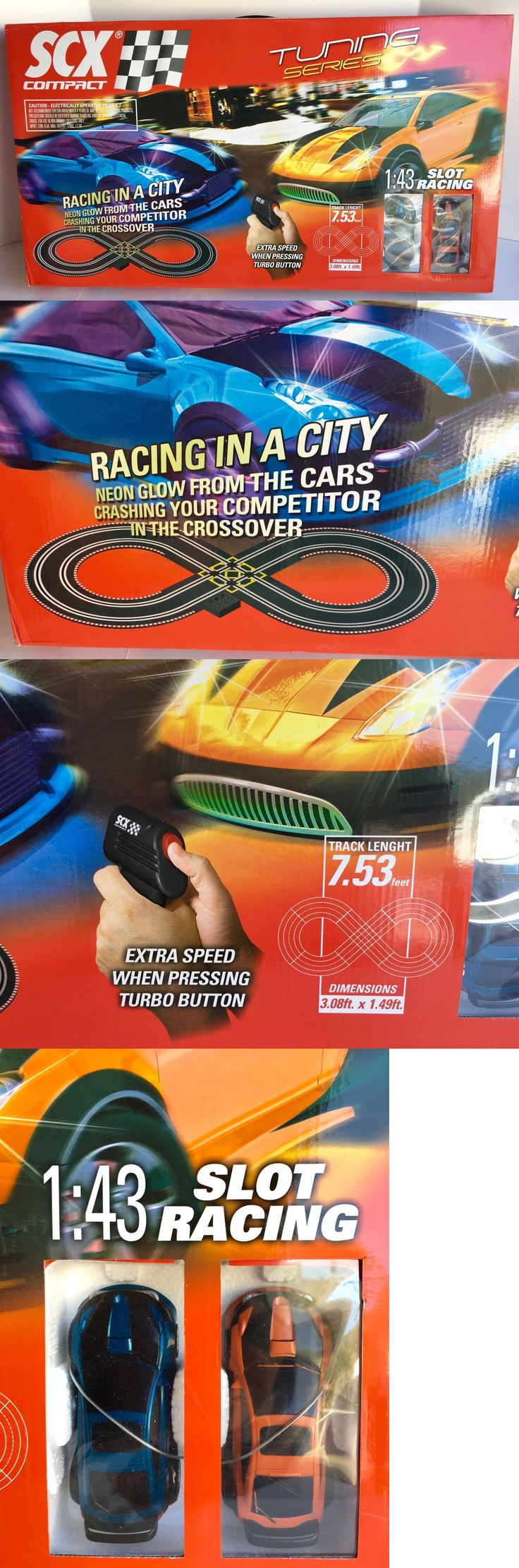 1970-Now 7318: Scx Slot Car Race Set With Extra Accessories! 1:43 Scale Lot A -> BUY IT NOW ONLY: $149 on eBay!