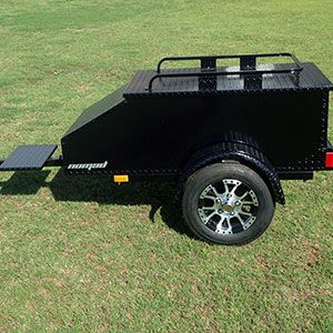 Pull Behind Motorcycle Trailers Built in USA , Aluminum Enclosed ...