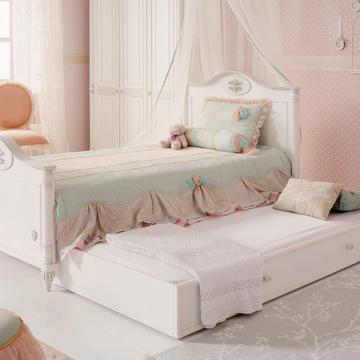 Детская кровать выдвижная Romantic (90 x 190)