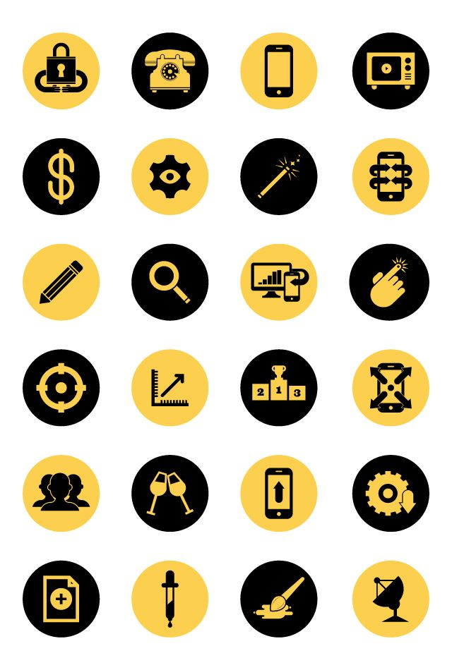 Flat Icons / Flat Design / Icons / Signs / Pictograms
