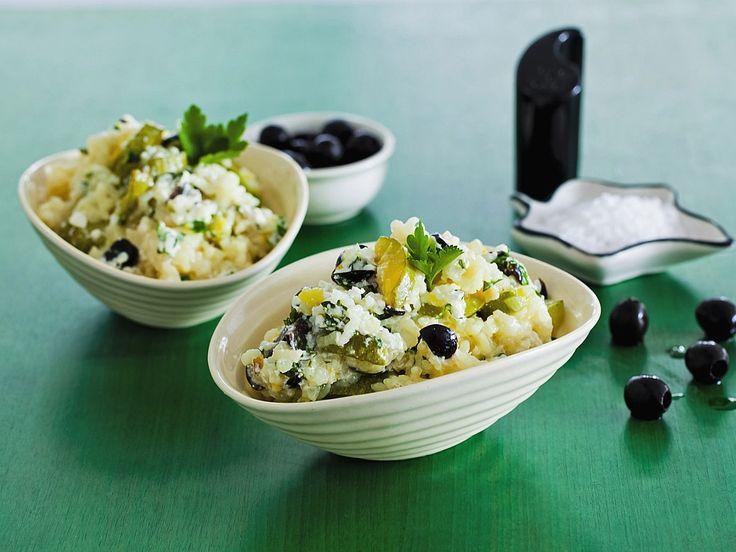 Рецепт: Рис с кабачками и фетой в мультиварке