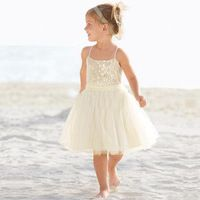 baljurk mouwloze ronde pailletten optocht jurken voor meisjes vestidos de primera comunion korte bloem meisje jurken