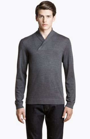 Merino Shawl Sweater - Sale - Mens - Armani Exchange