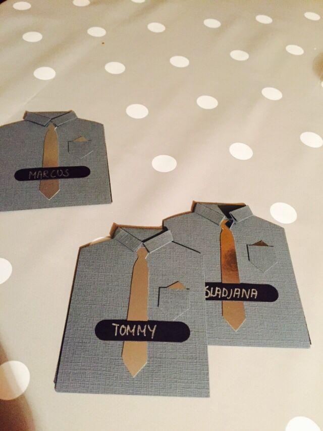 Bordkortene til Sondres konf:) laget av Nina