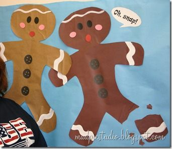 gingerbread themed bulletin boards  | Gingerbread bulletin board idea from mudpiestudio.blogspot.com # ...