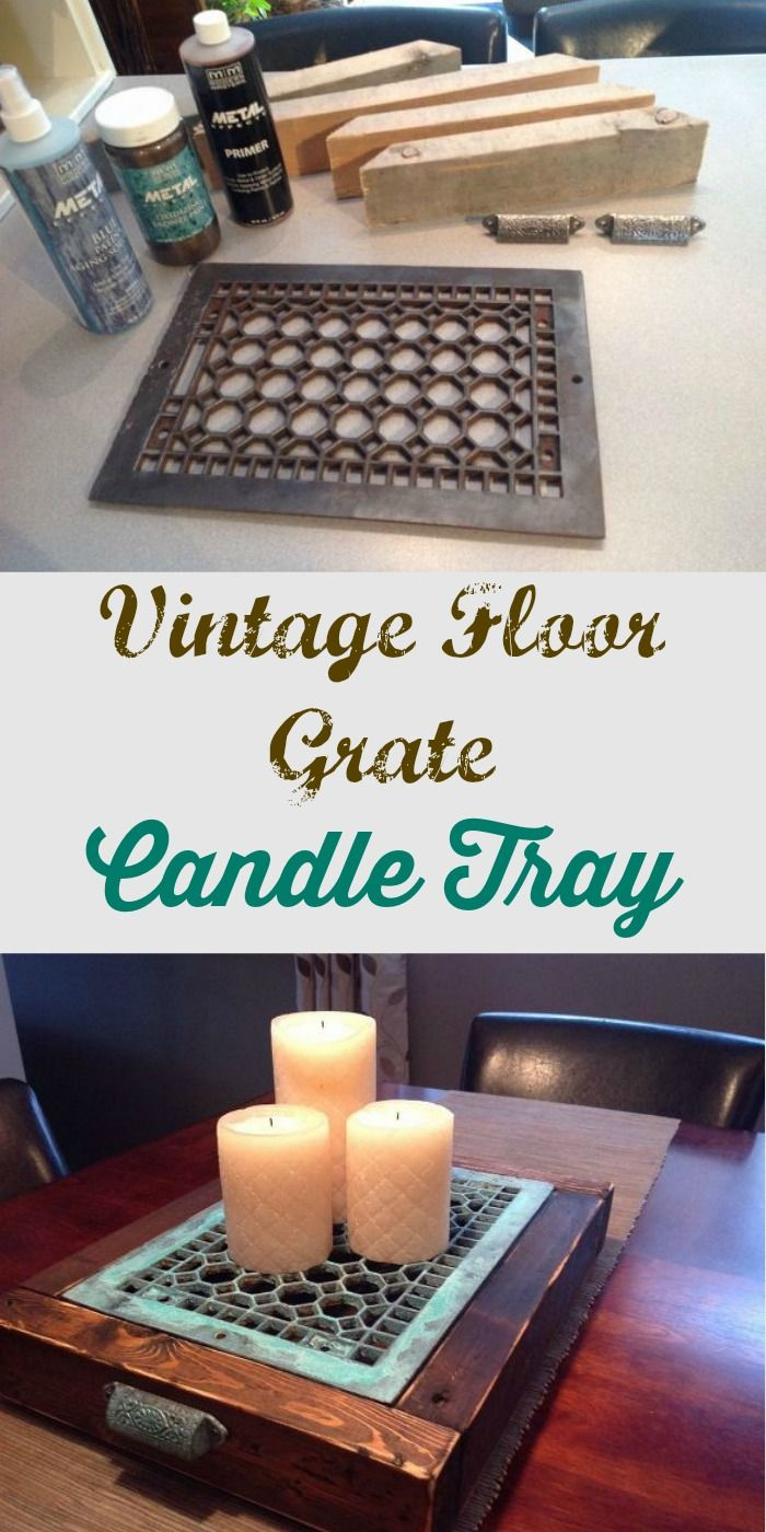 Vintage Floor Grate Candle Tray