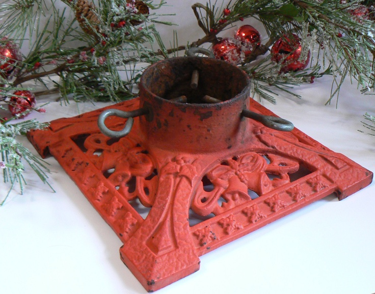 Victorian+Christmas+Tree+Stand+Red+Cast+Iron+with+by+KrauseHaus,+$65.00