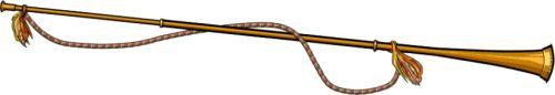 NAFIR  El añafil, en árabe andalusí annafír, en árabe clásico nafīr,[1] es un instrumento musical de viento de metal morisco, tipo trompeta recta y alargada, parecida a la tuba romana, usado también en Castilla.  Se puede encontrar en la iconografía medieval representado en escenas de batallas, con estandartes incorporados que identifican su militancia.