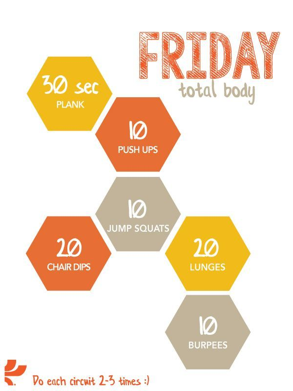 Friday workout plan - Life And Shape