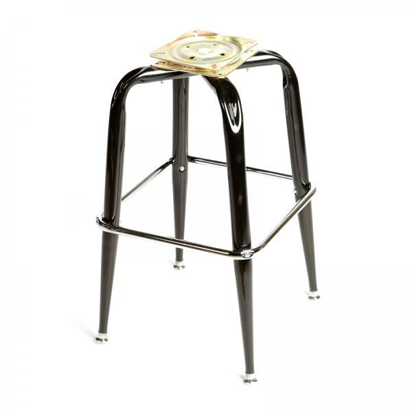 Bar Stool Bottom Frame Only For Swivel Stool Single Square Chrome Footring Gloss Finish Black Bar Stools Stool Chrome