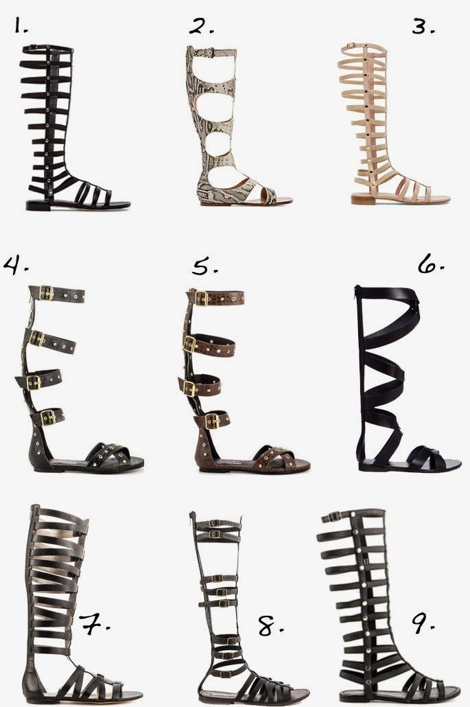 Top Knee High Gladiator Sandals - I'm a lover of gladiator sandals but I more prefer the ankle ones.