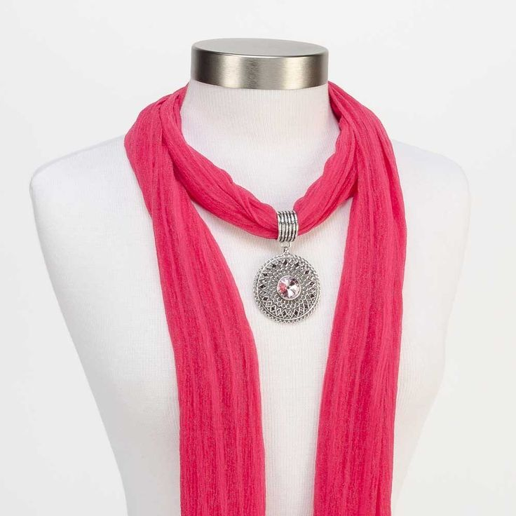 Best 22 pendant jewelry scarves ideas on pinterest scarfs shawl filigree stone pendant scarf jewelry pink with solid color stripe scarf pink http aloadofball Image collections