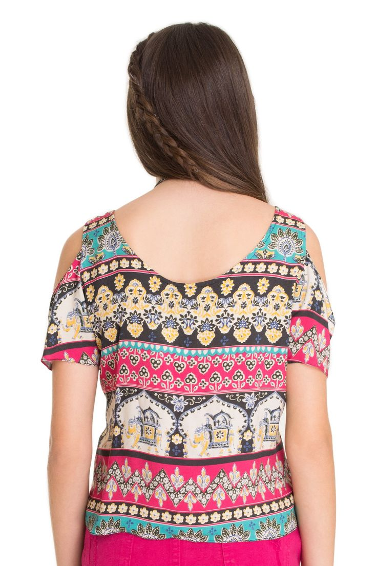 Blusa estampada elefante floral | Dress to