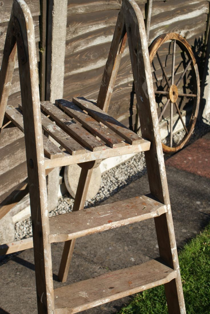 Vintage 1960 70 S Wooden Decorators Ladders By Twyford By