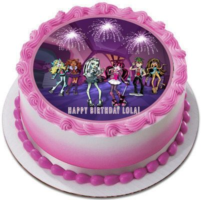 MONSTER HIGH Edible Birthday Cake Topper
