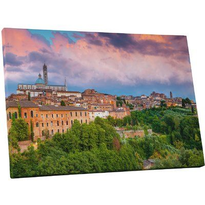 """PingoWorld 'Siena Tuscany Duomo Di Siena Cathedral' Photographic Print on Wrapped Canvas Size: 30"""" H x 45"""" W x 1.25"""" D"""