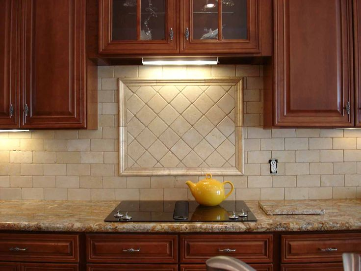Beige backsplash new house pinterest kitchen for Beige kitchen designs
