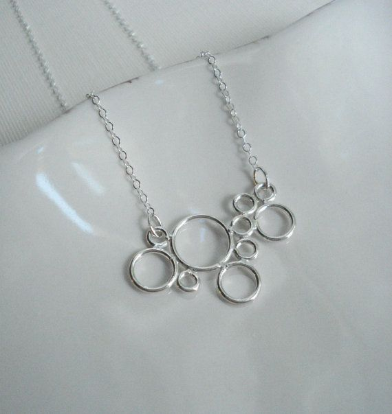 Bubble Necklace In Sterling Silver. Circle by AnechkasJewelry via etsy