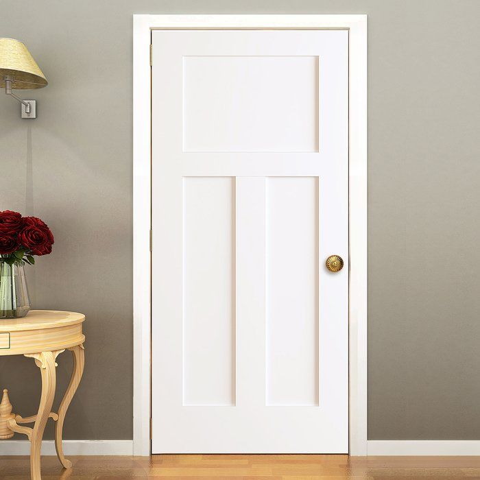 "Kimberly Bay Paneled Solid Wood Painted Shaker Standard Door 36/"" x 80/"""