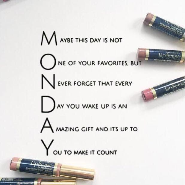 Happy Monday! Try out LipSense by SeneGence! Check out my Facebook group: Pretty Pouty Perfection. You can also go to SeneGence.com and place an order under my distributor ID: 351172