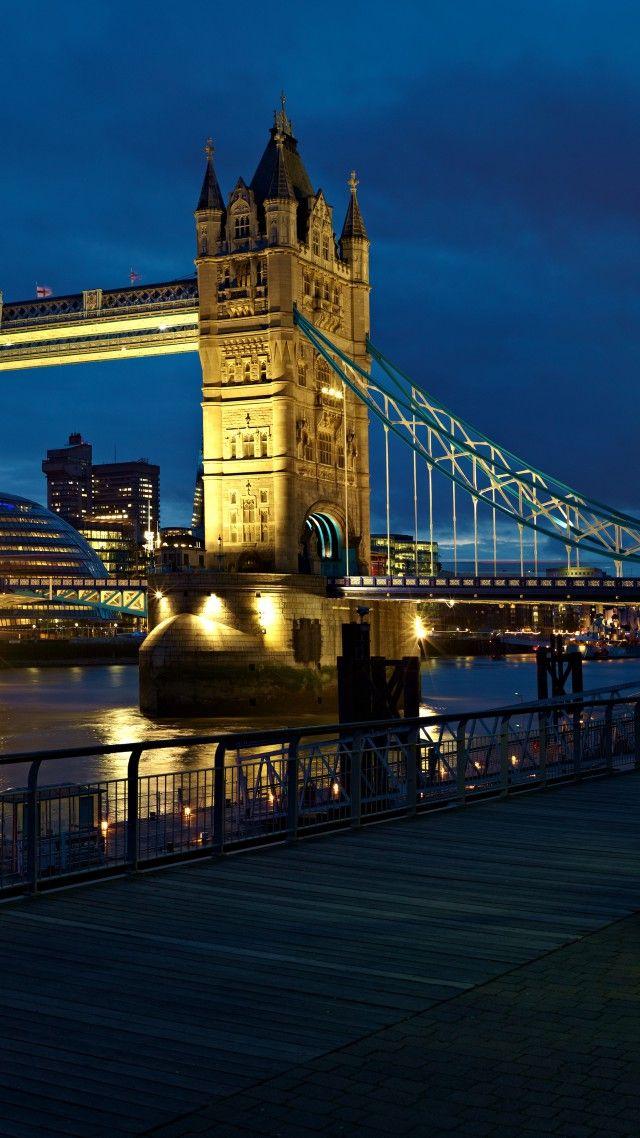 London, bridge, UK, night, river, travel, tourism