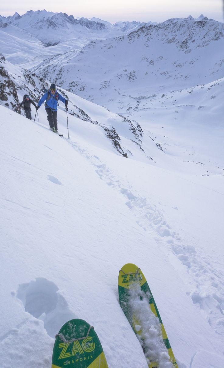 Ski touring in Yukon Territory