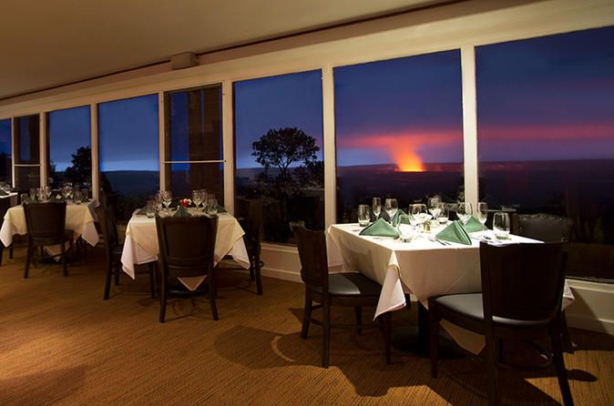 Explore the Night Volcano - Small Group Tour with Exclusive Dinner at The Volcano House - The Rim Restaurant 2018 - Big Island of Hawaii