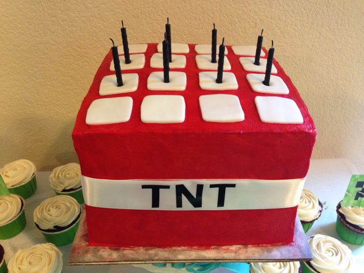 Minecraft Tnt Cake Cakes And Cupcakes Pinterest