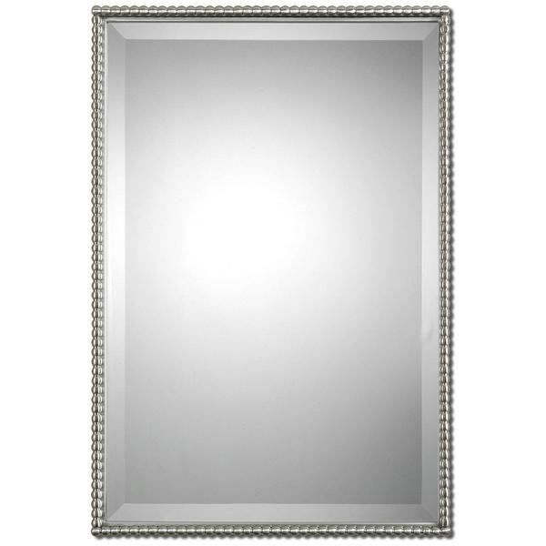 Uttermost, Sherise, Brushed Nickel Mirror, Mirror, Wall Mirror, Glass, Metal, MDF