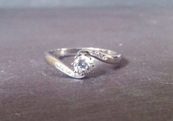 Solitaire Round Swirl Diamond Engagement Ring Gold by ArahJames
