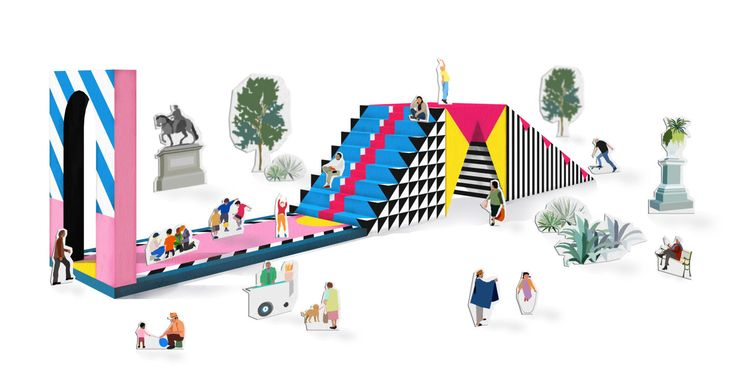 urban device for adaptable public space