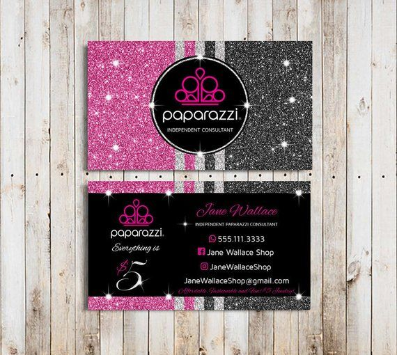 Paparazzi Business Cards Vistaprint Paparazzi Jewelry Accessories Paparazzi Consu Jewelry Business Card Glitter Business Cards Business Card Design Inspiration
