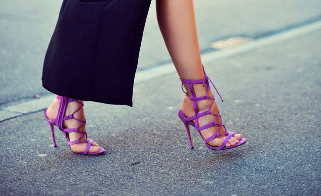 Caged sandals, Pump and Purple on Pinterest