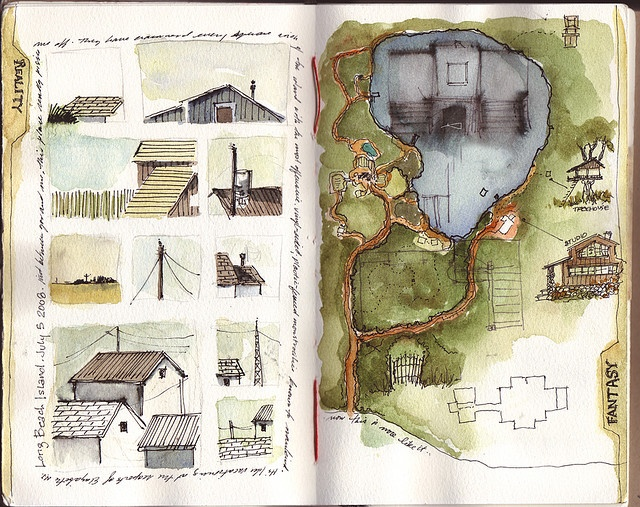 travel sketchbook of artist 'amanda kavanagh'  ❀ ~  ◊  photo via amada kavanagh's photostream on flickr
