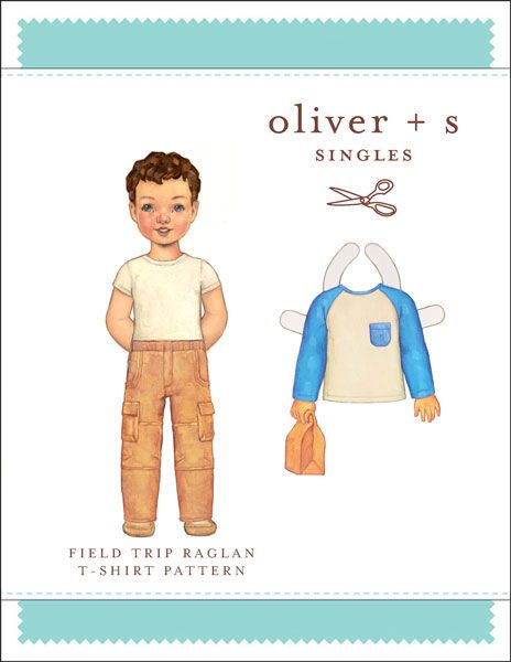 Digital Field Trip Raglan T-shirt Sewing Pattern | Shop | Oliver + S