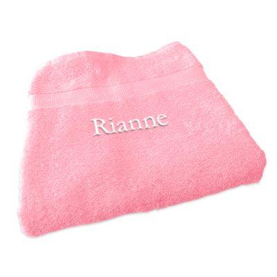 Saunalaken met naam (Zacht roze) 100 cm x 200 cm